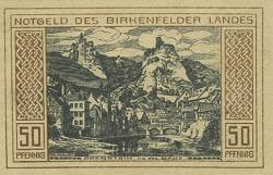 50 Pf Landesteil Birkenfeld (01.02.1921)